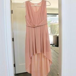 Street Fifteen Rose Pink Chiffon High Low Dress